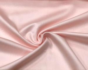 Бледно-розовая сатиновая наволочка