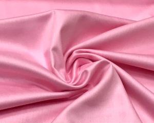 Розовая сатиновая наволочка