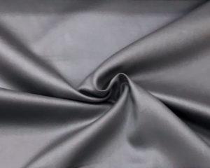 Темно-серая сатиновая наволочка